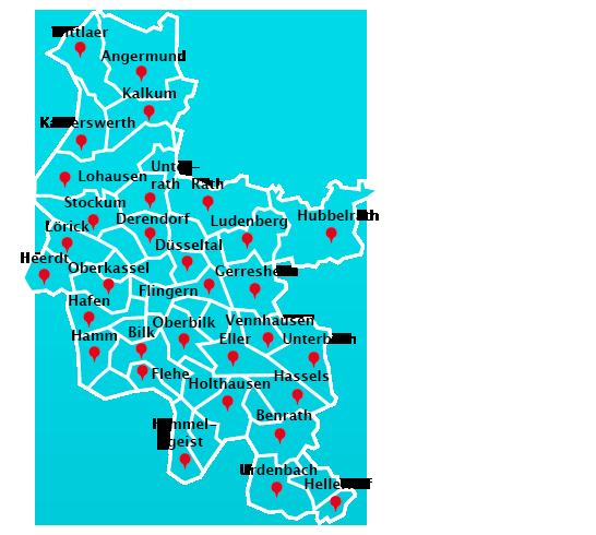 Düsseldorf Stadtteile Karte.Treppenhausreinigung Stadtteile Düsseldorf Gelford Gmbh